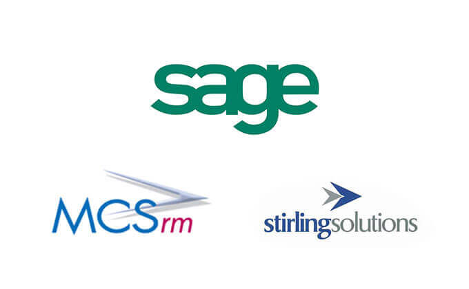 Sage, MCS and Stirling Solutions logos