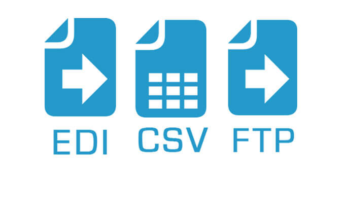EDI, CSV and FTP icons