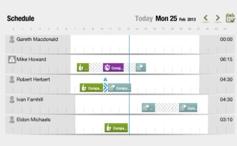 Scheduling assistant screenshot