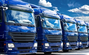 A fleet of trucks