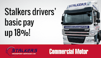 stalkers drivers' basic pay up 18%