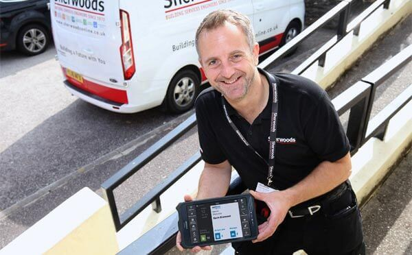 Sherwoods using Bigchange mobile device