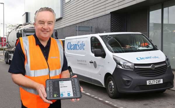 Cleansafe using JobWatch device