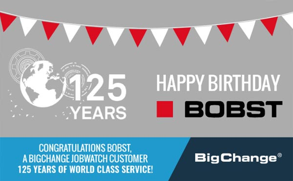 BigChange Customer Bobst Celebrates 125 Years