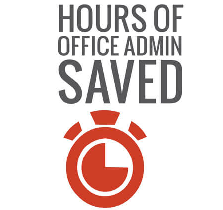 Hours of office admin saved