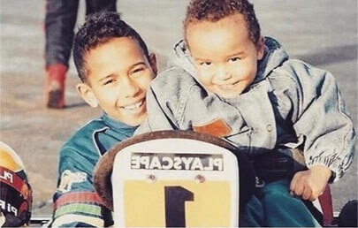 Nic Hamilton and his brother Lewis Hamilton as children