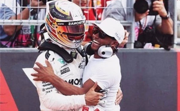 Nic Hamilton and his brother Lewis Hamilton