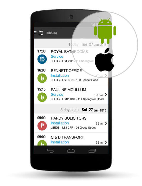 Run JobWatch on any iOS or Android device