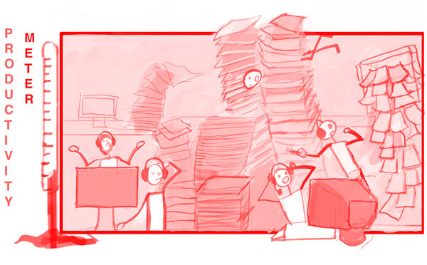 Mountains of paper work