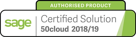 Sage Authorised Product Certified Solution 2018 - 2019