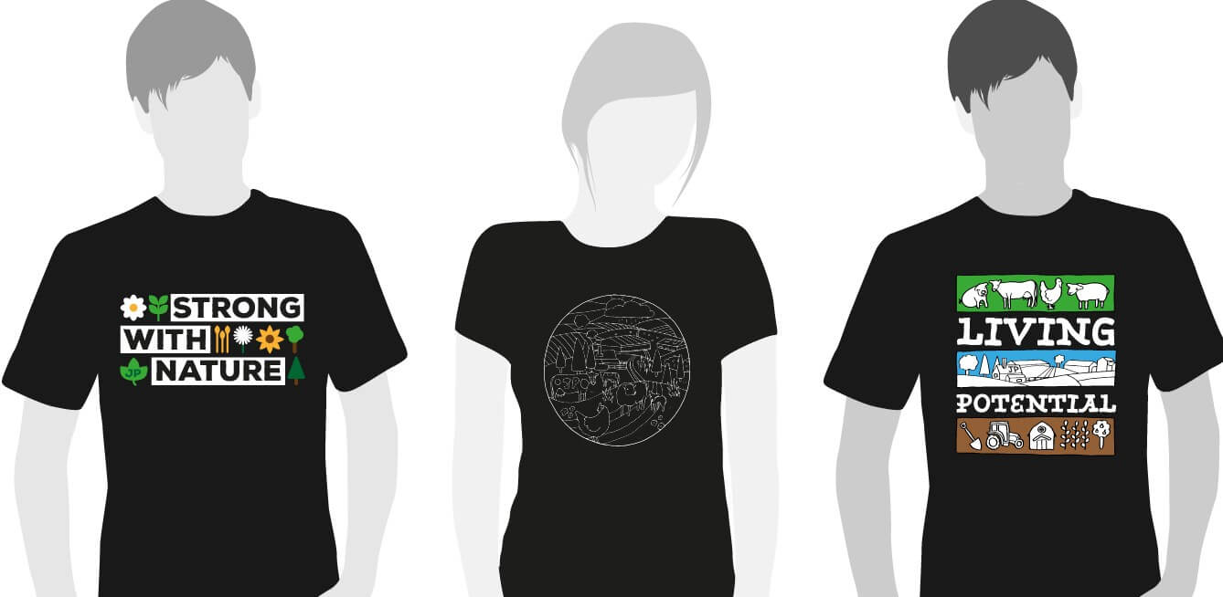 JP Living Potential t-shirts