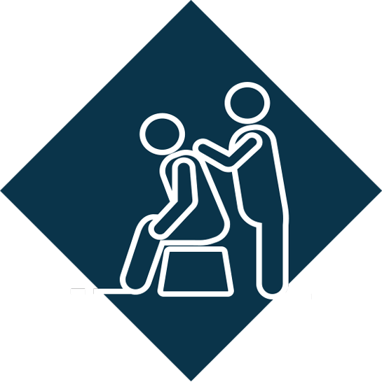 Free massage in the office logo