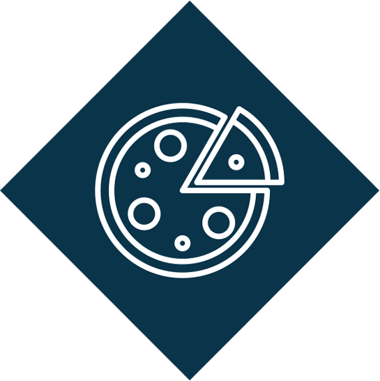 Team pizza lunches logo
