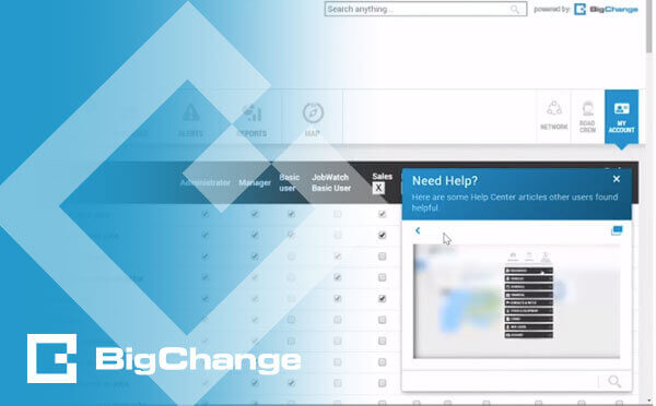 BigChange new feature is the floating help button