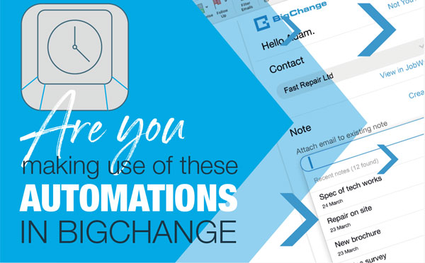 Automations in BigChange
